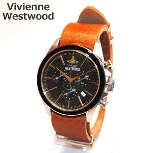 Vivienne Westwood (ヴィヴィアンウエストウッド) 腕時計 VV069BKBR CAMDEN LOCK 2 クロノグラフ 時計 メンズ|timeclub