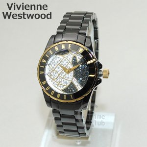 Vivienne Westwood (ヴィヴィアンウエストウッド) 腕時計 VV088SGDBK ブラック/ゴールド ブレス 時計 レディース ヴィヴィアン 【送料無料(※北海道・沖縄は1|timeclub