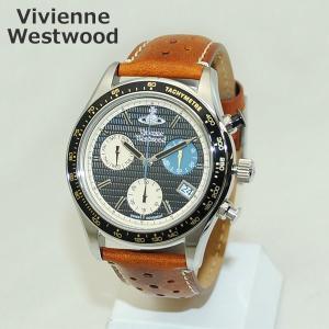 Vivienne Westwood (ヴィヴィアンウエストウッド) 腕時計 VV142BKTN ブラウン レザー/シルバー 時計 メンズ ヴィヴィアン|timeclub
