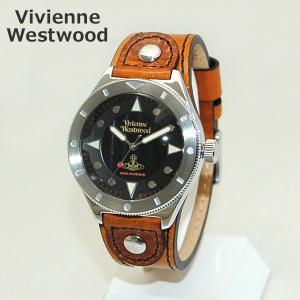 Vivienne Westwood (ヴィヴィアンウエストウッド) 腕時計 VV160BKBR ブラウン レザー/シルバー 時計 メンズ|timeclub