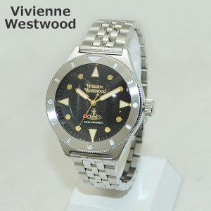 Vivienne Westwood (ヴィヴィアンウエストウッド) 腕時計 VV160BKSL シルバー/ブラック 時計 メンズ ブレス ヴィヴィアン|timeclub