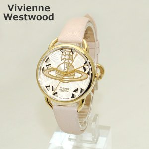 Vivienne Westwood (ヴィヴィアンウエストウッド) 腕時計 VV163BGPK ピンク レザー/ゴールド 時計 レディース ヴィヴィアン|timeclub