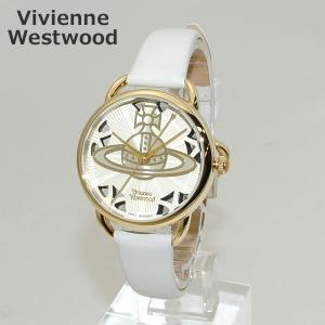 Vivienne Westwood (ヴィヴィアンウエストウッド) 腕時計 VV163CMCM ホワイト レザー/ゴールド 時計 レディース|timeclub