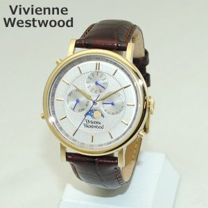 Vivienne Westwood (ヴィヴィアンウエストウッド) 腕時計 VV164CHBR ブラウン レザー/ゴールド 時計 メンズ ヴィヴィアン|timeclub
