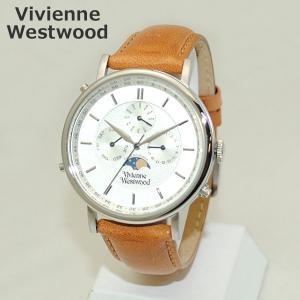 Vivienne Westwood (ヴィヴィアンウエストウッド) 腕時計 VV164SLTN ライトブラウン レザー/シルバー 時計 メンズ ヴィヴィアン|timeclub