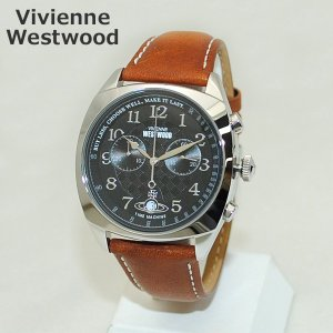 Vivienne Westwood (ヴィヴィアンウエストウッド) 腕時計 VV176BKTN ブラウン レザー/シルバー 時計 メンズ ヴィヴィアン|timeclub