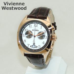 Vivienne Westwood (ヴィヴィアンウエストウッド) 腕時計 VV176WHBR ブラウン レザー/ピンクゴールド 時計 メンズ ヴィヴィアン|timeclub