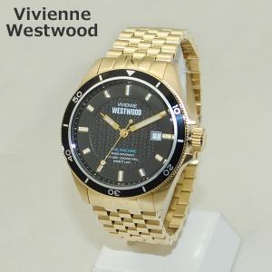 Vivienne Westwood (ヴィヴィアンウエストウッド) 腕時計 VV181BKGD ブラック/ゴールド ブレス 時計 メンズ ヴィヴィアン|timeclub