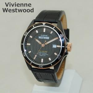 Vivienne Westwood (ヴィヴィアンウエストウッド) 腕時計 VV181RSBK ピンクゴールド/ブラック レザー 時計 メンズ ヴィヴィアン|timeclub