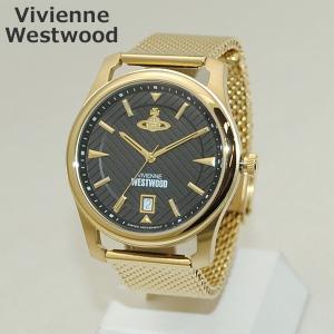 Vivienne Westwood (ヴィヴィアンウエストウッド) 腕時計 VV185BKGD 時計 ゴールド ブレス メンズ ヴィヴィアン|timeclub