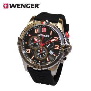 【国内正規品・3年保証】WENGER(ウェンガー) 時計 腕時計 Squadron chrono スクアドロン クロノグラフ 77055 メンズ・レディー|timeclub