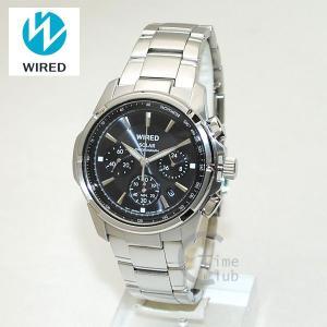 国内正規品 WIRED(ワイアード) 時計 腕時計 AGAD028 NEW STANDARD シルバー/ブラック ソーラー|timeclub