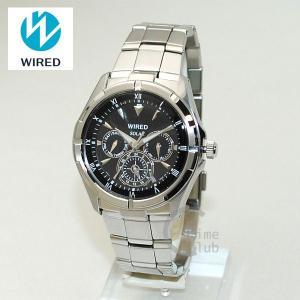 国内正規品 WIRED(ワイアード) 時計 腕時計 AGAD032 NEW STANDARD シルバー/ブラック ソーラー|timeclub
