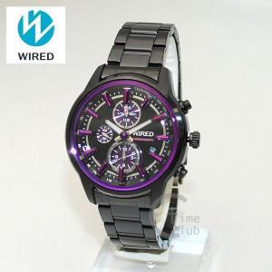 国内正規品 WIRED(ワイアード) 時計 腕時計 AGAV092 REFLECTION ブラック/パープル|timeclub