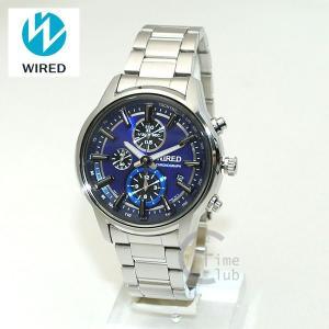 国内正規品 WIRED(ワイアード) 時計 腕時計 AGAV094 REFLECTION シルバー/ブルー|timeclub