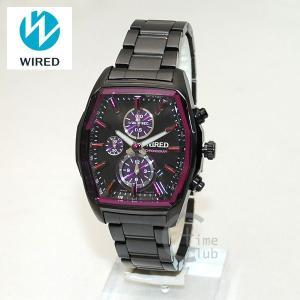 《》国内正規品 WIRED(ワイアード) 時計 腕時計 AGAV096 REFLECTION ブラック/パープル|timeclub