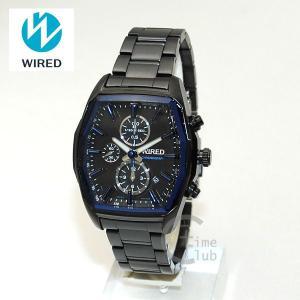 国内正規品 WIRED(ワイアード) 時計 腕時計 AGAV097 REFLECTION ブラック/ブルー|timeclub