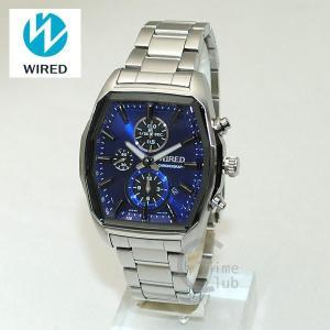 国内正規品 WIRED(ワイアード) 時計 腕時計 AGAV099 REFLECTION シルバー/ブルー|timeclub