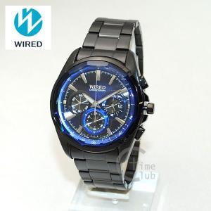 国内正規品 WIRED(ワイアード) 時計 腕時計 AGAV102 REFLECTION ブラック/ブルー|timeclub