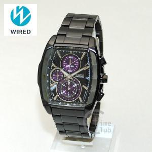 国内正規品 WIRED(ワイアード) 時計 腕時計 AGAV107 REFLECTION ブラック/パープル|timeclub