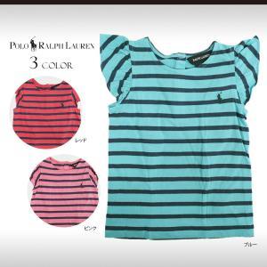 ラルフローレン ベビー 女の子 キッズ 子供 Tシャツ トップス 80/85/90 ボーダー フリル