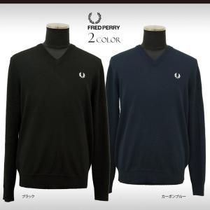 フレッドペリー セーター メンズ Vネックセーター ウール ニット ティップライン