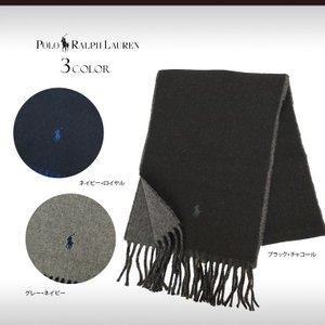 暖かく、使い勝手の良いリバーシブルのウール混紡マフラー。片端にポニーししゅう付き。  ■商品仕様 ◇...