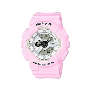 並行輸入品 10年保証 CASIO BABY-G カシオ ベビーG BA-110BE-4A 腕時計 レディース キッズ 子供 女の子 アナデジ 防水 ピンク ホワイト 白|timelovers