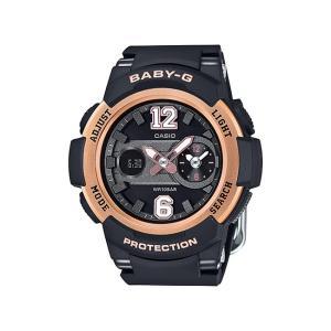 並行輸入品 10年保証 CASIO BABY-G カシオ ベビーG BGA-210-1B 腕時計 レディース キッズ 子供 女の子 アナデジ 防水 ブラック 黒 ピンクゴールド|timelovers