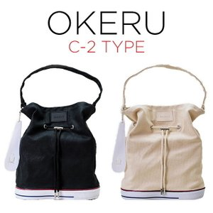 OKERU オケル シューズバッグ C-2 TYPE バッグ かばん トートバック ミニトート ランチバッグ ミニバッグ 巾着バッグ 2WAY ブラック 黒 ホワイト 白 timelovers