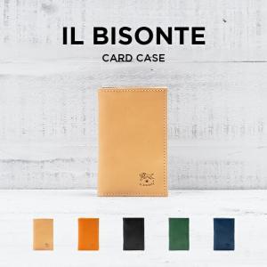 IL BISONTE イルビゾンテ カードケース C0348 名刺入れ レザー 革 ベージュ ブラウ...