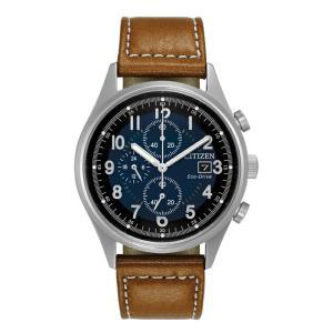 並行輸入品 10年保証 CITIZEN シチズン エコドライブ チャンドラー CA0621-05L 腕時計 メンズ 逆輸入 クロノグラフ ミリタリー アナログ ソーラー ネイビー ブラ|timelovers