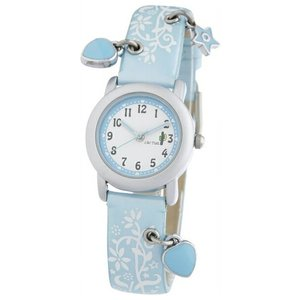 送料無料 カクタス アナログハートチャーム 腕時計 キッズ ガールズ 子供 KIDS HART CHARM アナログ スカイブルー 水色 ホワイト 白 ハート CACTUS CAC-28-L04|timelovers