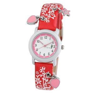送料無料 カクタス アナログハートチャーム 腕時計 キッズ ガールズ 子供 KIDS HART CHARM レッド 赤 ホワイト 白 ハート CACTUS CAC-28-L07|timelovers