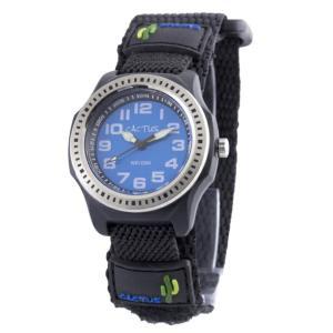 送料無料 カクタス アナログ腕時計 キッズ ベルクロ ボーイズ 男の子 子供 KIDS VELCRO ブラック 黒 ブルー 青 マジックテープ CACTUS CAC-45-M03|timelovers