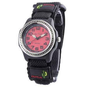 送料無料 カクタス アナログ腕時計 キッズ ベルクロ ボーイズ 男の子 子供 KIDS VELCRO ブラック 黒 レッド 赤 マジックテープ CACTUS CAC-45-M07|timelovers