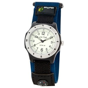 送料無料 カクタス アナログ腕時計 キッズ ボーイズ 男の子 子供 KIDS BOYS ブラック 黒 ネイビー マジックテープ CACTUS CAC-65-M03|timelovers