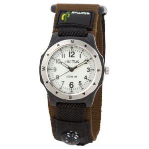 送料無料 カクタス アナログ腕時計 キッズ ボーイズ 男の子 子供 KIDS BOYS ブラック 黒 ブラウン 茶 マジックテープ CACTUS CAC-65-M12|timelovers