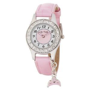 送料無料 カクタス アナログ ティアラチャーム 腕時計 キッズ ガールズ 女の子 子供 KIDS TIARA CHARM ピンク ホワイト 白 ティアラ CACTUSCAC-71-L05|timelovers