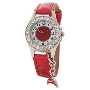 送料無料 カクタス アナログ ティアラチャーム 腕時計 キッズ ガールズ 女の子 子供 KIDS TIARA CHARM レッド 赤 ホワイト 白 ティアラ CACTUSCAC-71-L07|timelovers