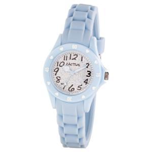 送料無料 カクタス アナログ腕時計 キッズ ガールズ 女の子 子供 KIDS HART LAME BLUE ハート ラメ ブルー スカイブルー 水色 シルバー CACTUS CAC-91-L04|timelovers