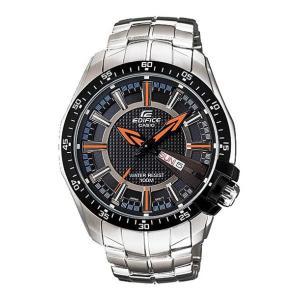 並行輸入品 10年保証 CASIO カシオ エディフィス EF-130D-1A5 腕時計 メンズ アナログ 防水 ブラック 黒 シルバー 海外モデル|timelovers