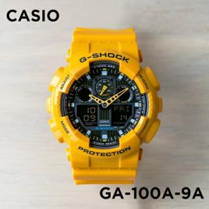 並行輸入品 10年保証 CASIO G-SHOCK カシオ Gショック GA-100A-9A 腕時計 メンズ キッズ 子供 男の子 アナデジ 防水 イエロー 黄色 ブラック 黒|timelovers