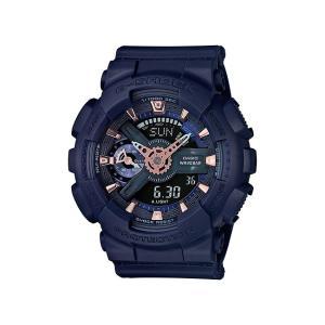 並行輸入品 10年保証 CASIO G-SHOCK カシオ Gショック Sシリーズ GMA-S110CM-2A 腕時計 メンズ キッズ 子供 男の子 アナデジ 防水 ネイビー 海外モデル|timelovers