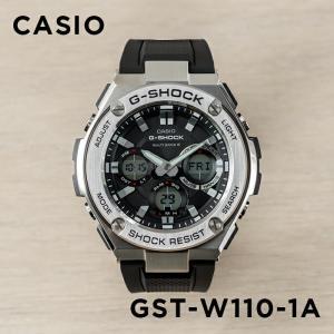 【並行輸入品】【10年保証】CASIO G-SHOCK カシオ Gショック Gスチール GST-W110-1A 腕時計 メンズ キッズ 子供 男の子 アナデジ 電波 ソーラー ソーラー電波時|timelovers