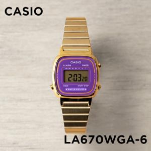 10年保証 送料無料 CASIO カシオ スタンダード レディース LA670WGA-6 腕時計 キ...
