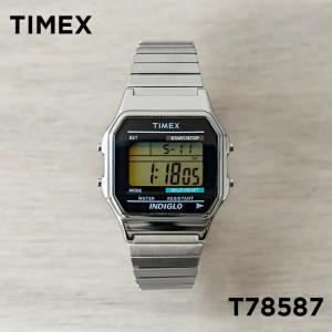 並行輸入品 TIMEX タイメックス クラシック デジタル T78587 腕時計 メンズ レディース シルバー ブラック 黒