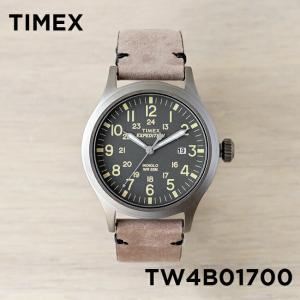 並行輸入品 TIMEX タイメックス エクスペディション スカウト 40MM TW4B01700 腕時計 メンズ レディース ミリタリー アナログ グレー ブラウン 茶 レザー 革ベル|timelovers