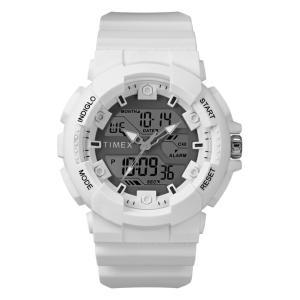 並行輸入品 TIMEX タイメックス THE HQ DGTL 50MM TW5M22400 腕時計 メンズ レディース アナデジ ホワイト 白 グレー 海外モデル|timelovers