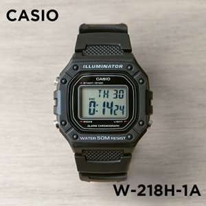 【並行輸入品】【10年保証】CASIO カシオ スタンダード W-218H-1A 腕時計 メンズ レディース キッズ 子供 男の子 女の子 チープカシオ チプカシ デジタル ブラッ|timelovers